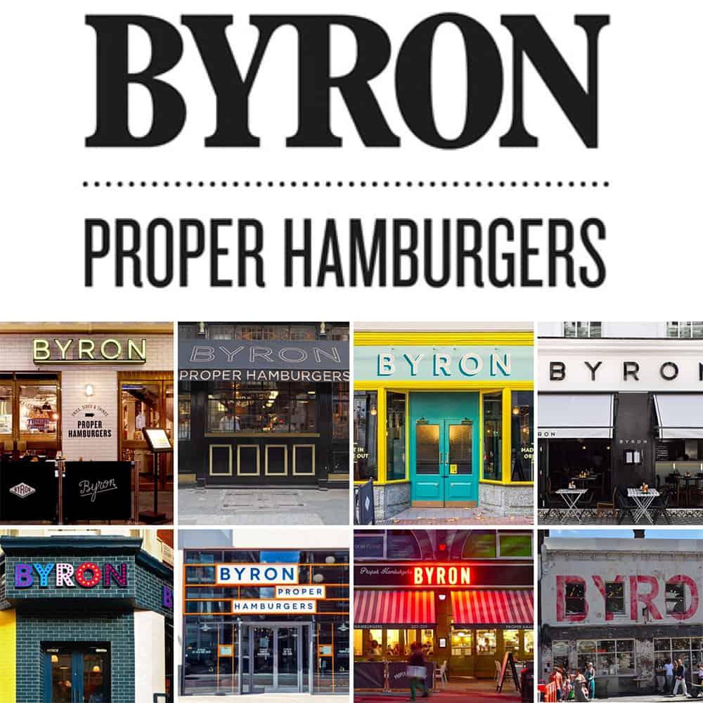Byron logo and restaurants