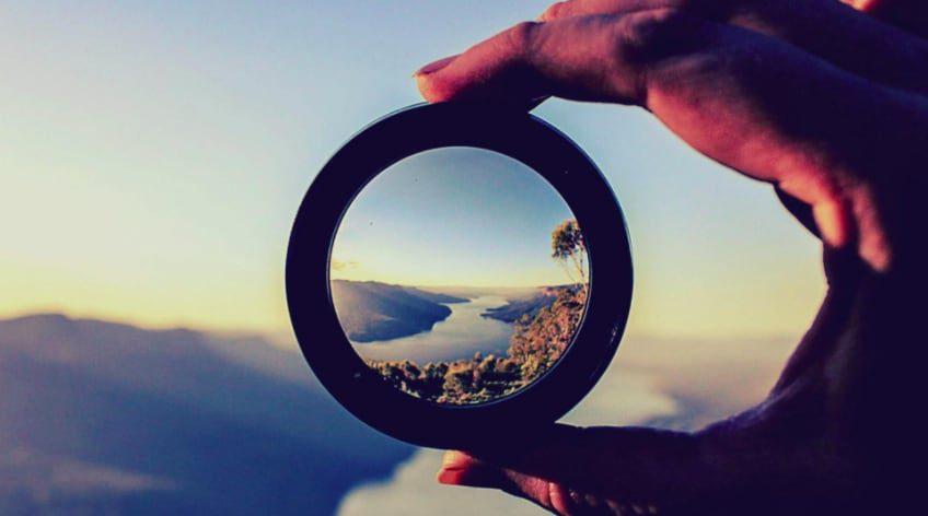 Landscape through a camera lens