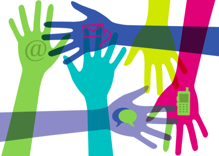 Digital relationships graphic