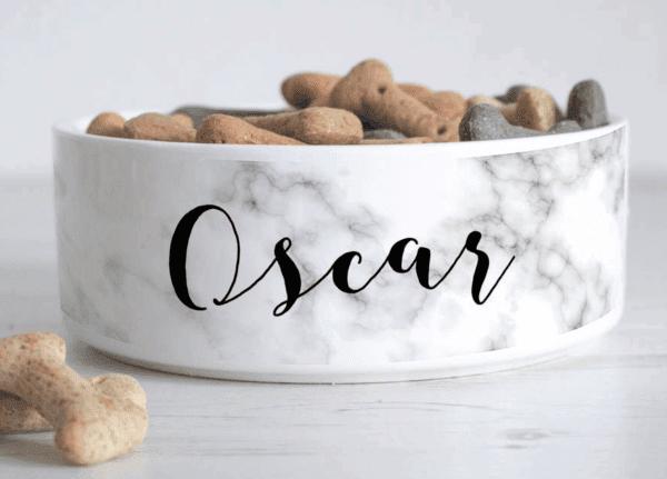 Oscar dog bowl