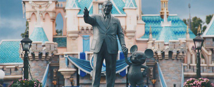 Walt Disney statue in Disneyworld