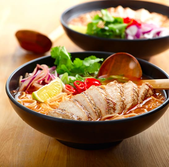 Two bowls of wagamama food